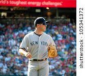 Small photo of WASHINGTON - JUNE 16: Mark Teixeira during the Washington Nationals - New York Yankees game, which the Yankees won after 14 innings of play, on June 16, 2012 in Washington, D.C.