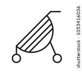 baby stroller icon vector | Shutterstock .eps vector #1053416036