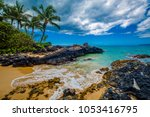 secret beach  maui | Shutterstock . vector #1053416795