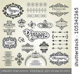vector set  calligraphic design ...   Shutterstock .eps vector #105342365