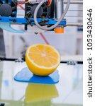 ripe slice of yellow lemon... | Shutterstock . vector #1053430646