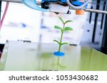 young plant growing.3d printer... | Shutterstock . vector #1053430682