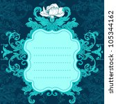 invitation vintage card.... | Shutterstock .eps vector #105344162