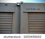 metal storage unit spray... | Shutterstock . vector #1053450032