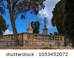 statue of the apostle paul in...   Shutterstock . vector #1053452072