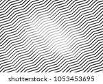 zigzag lines halftone engraving ... | Shutterstock . vector #1053453695