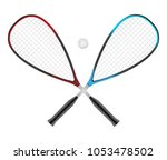 vector squash or racketball... | Shutterstock .eps vector #1053478502