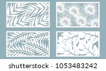 set template for cutting. palm... | Shutterstock .eps vector #1053483242