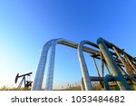 oil pipes  outdoors | Shutterstock . vector #1053484682