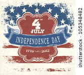 poster for independence day... | Shutterstock .eps vector #105348482