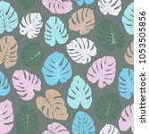 nature vector tropical pattern... | Shutterstock .eps vector #1053505856