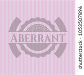 aberrant retro pink emblem | Shutterstock .eps vector #1053507896