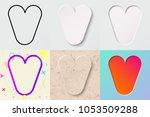 vector illustration set of cute ... | Shutterstock .eps vector #1053509288