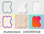 vector illustration set of cute ... | Shutterstock .eps vector #1053509318