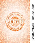carefree abstract orange mosaic ... | Shutterstock .eps vector #1053510035