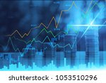 stock market or forex trading... | Shutterstock . vector #1053510296