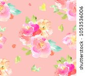 modern  seamless watercolor... | Shutterstock . vector #1053536006