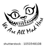 smile cheshire cat alice in... | Shutterstock .eps vector #1053548108