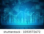 2d rendering stock market...   Shutterstock . vector #1053572672