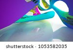 abstract white and colored... | Shutterstock . vector #1053582035