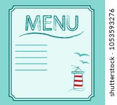 vector llustration of menu in... | Shutterstock .eps vector #1053593276