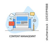 content management  website... | Shutterstock .eps vector #1053599888
