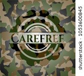carefree on camouflaged pattern | Shutterstock .eps vector #1053600845