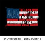 grunge textured illustration of ... | Shutterstock .eps vector #1053605546
