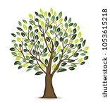 illustration tree design in... | Shutterstock .eps vector #1053615218