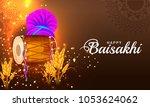 illustration of happy baisakhi... | Shutterstock .eps vector #1053624062