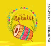 illustration of happy baisakhi... | Shutterstock .eps vector #1053624092