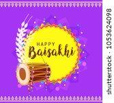 illustration of happy baisakhi... | Shutterstock .eps vector #1053624098