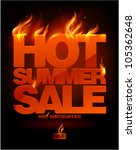 fiery hot summer sale design... | Shutterstock .eps vector #105362648