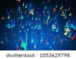 seamless animation of colorful... | Shutterstock . vector #1053629798