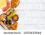 compulsive eating or eating... | Shutterstock . vector #1053635066