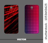 bright covers for mobile phone. ...   Shutterstock .eps vector #1053643625