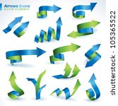 set of vector arrows icons | Shutterstock .eps vector #105365522