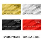modern credit card  business... | Shutterstock .eps vector #1053658508