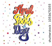april fools day vector... | Shutterstock .eps vector #1053670355