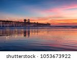 california oceanside pier over... | Shutterstock . vector #1053673922