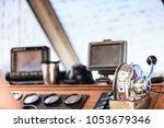 sailing navigation panel... | Shutterstock . vector #1053679346