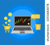 cryptocurrency and blockchain ... | Shutterstock .eps vector #1053683078