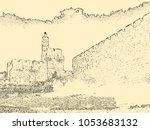 israel. jerusalem. old city.... | Shutterstock .eps vector #1053683132
