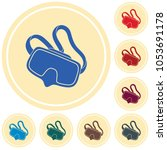diving mask icon isolated.... | Shutterstock .eps vector #1053691178