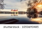 wonderful autumn landscape.... | Shutterstock . vector #1053693485