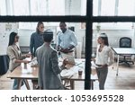 brainstorming for a new project....   Shutterstock . vector #1053695528