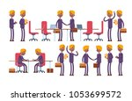 conclusion of the transaction ... | Shutterstock .eps vector #1053699572