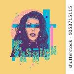 modern fashion design poster or ... | Shutterstock .eps vector #1053715115