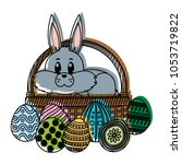 moved color rabbit animal... | Shutterstock .eps vector #1053719822