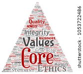 vector conceptual core values...   Shutterstock .eps vector #1053722486